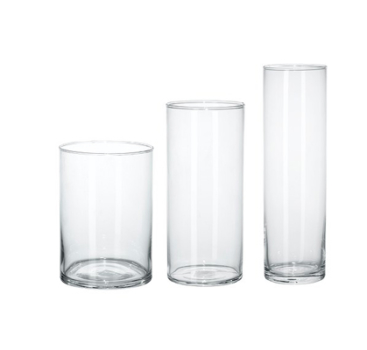 Cyclinder Glass vase