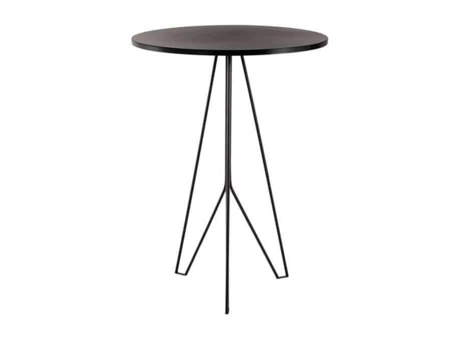 WIRE BAR TABLE BLACK BASE