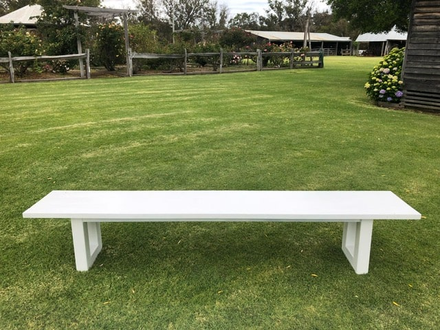 Enjoyable White Bench Hire In Style Pdpeps Interior Chair Design Pdpepsorg