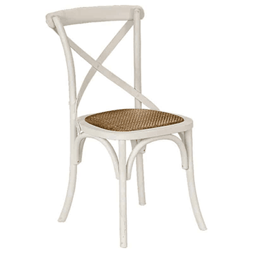 WHITE X-BACK CHAIR